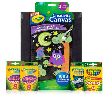 Crayon Melter Refill Kit Special Effects with Black Canvas Pack