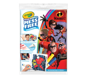 Color Wonder Coloring Pad and Markers, Incredibles 2