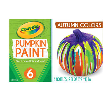 Acrylic Pumpkin Painting Set, Autumn Colors front view