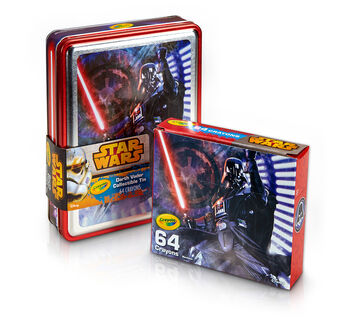 Star Wars, Darth Vader Tin and Crayon Box