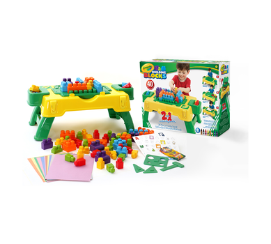 Crayola 2 in 1 Activity Table, 40 pcs