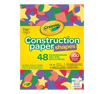 Construction Paper Shapes, 48 ct