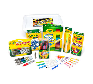 Deluxe Back to School Supplies Kit with Markers & Highlighter (Grades 4-6)