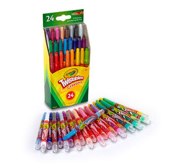 Mini Twistable Crayons 24 count open package
