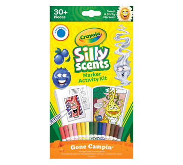 Silly Scents Marker Activity Kit Gone Camping Front View