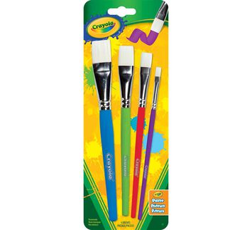 Big Paintbrush Set, 4 ct. Flat