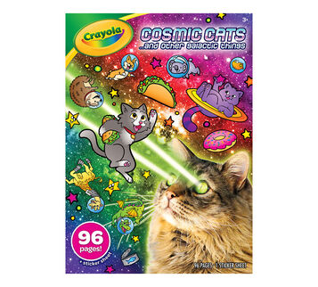 Cosmic Cats Coloring Book Front View