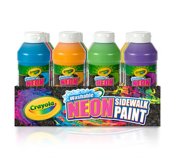 12 ct. Washable Sidewalk Neon Paint