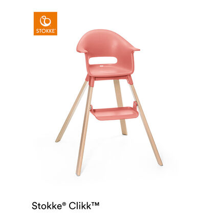 Chaise haute évolutive Clikk - Corail