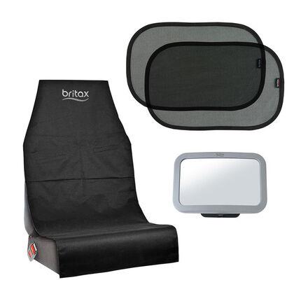 Set d'accessoires dos à la route noir