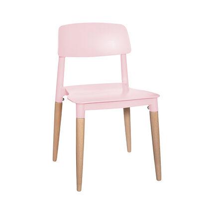 Chaise de table pour enfant design - Rose
