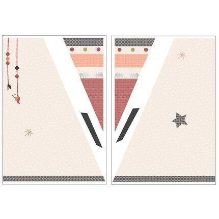 Stickers muraux tipi 700 x 70 cm - Timouki orange