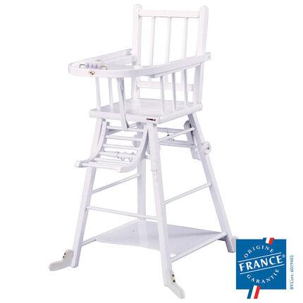 Chaise Haute Transformable - Laqué Blanche