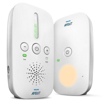 Babyphone Audio utilisable avec piles ou sur secteur - Gris/Blanc