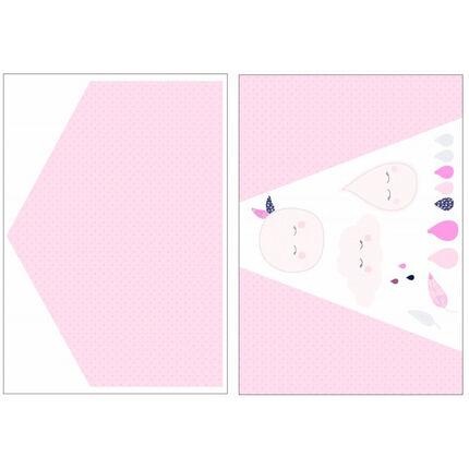 Stickers muraux Home - Miss Fleur de Lune rose/blanc