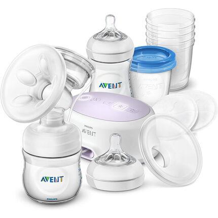 Kit tire-lait électrique Natural + Accessoires transparent