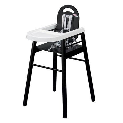 Chaise haute fixe Lili - Noir