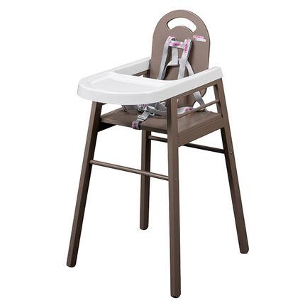 Chaise haute Lili - Taupe marron