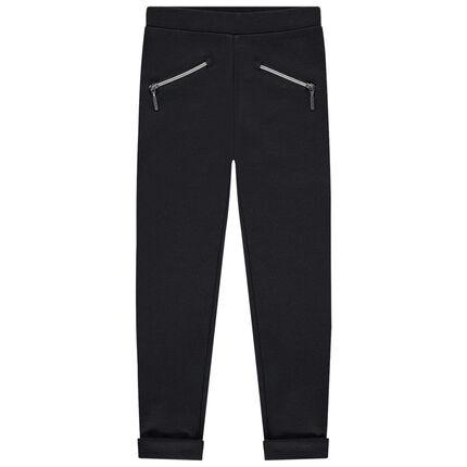 Jegging en milano à bandes et poches zippées 3 ans noir