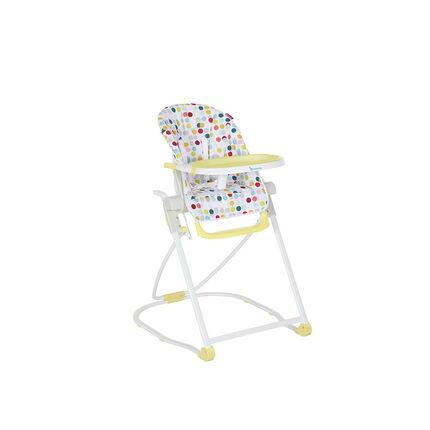 Chaise haute compacte réglable – Confetti