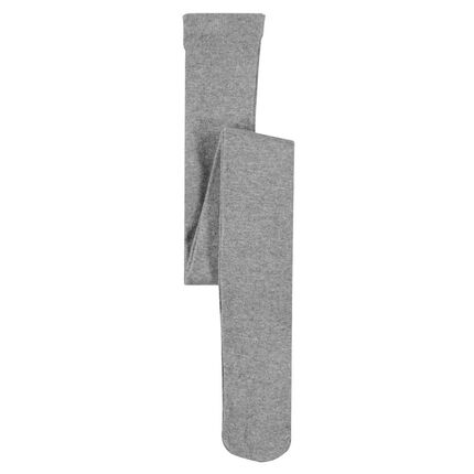 Collants doux en viscose effet pailleté 23-26 gris chiné