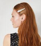 Warehouse, Pearl Resin Hair Clip 3 Pack Cream 1