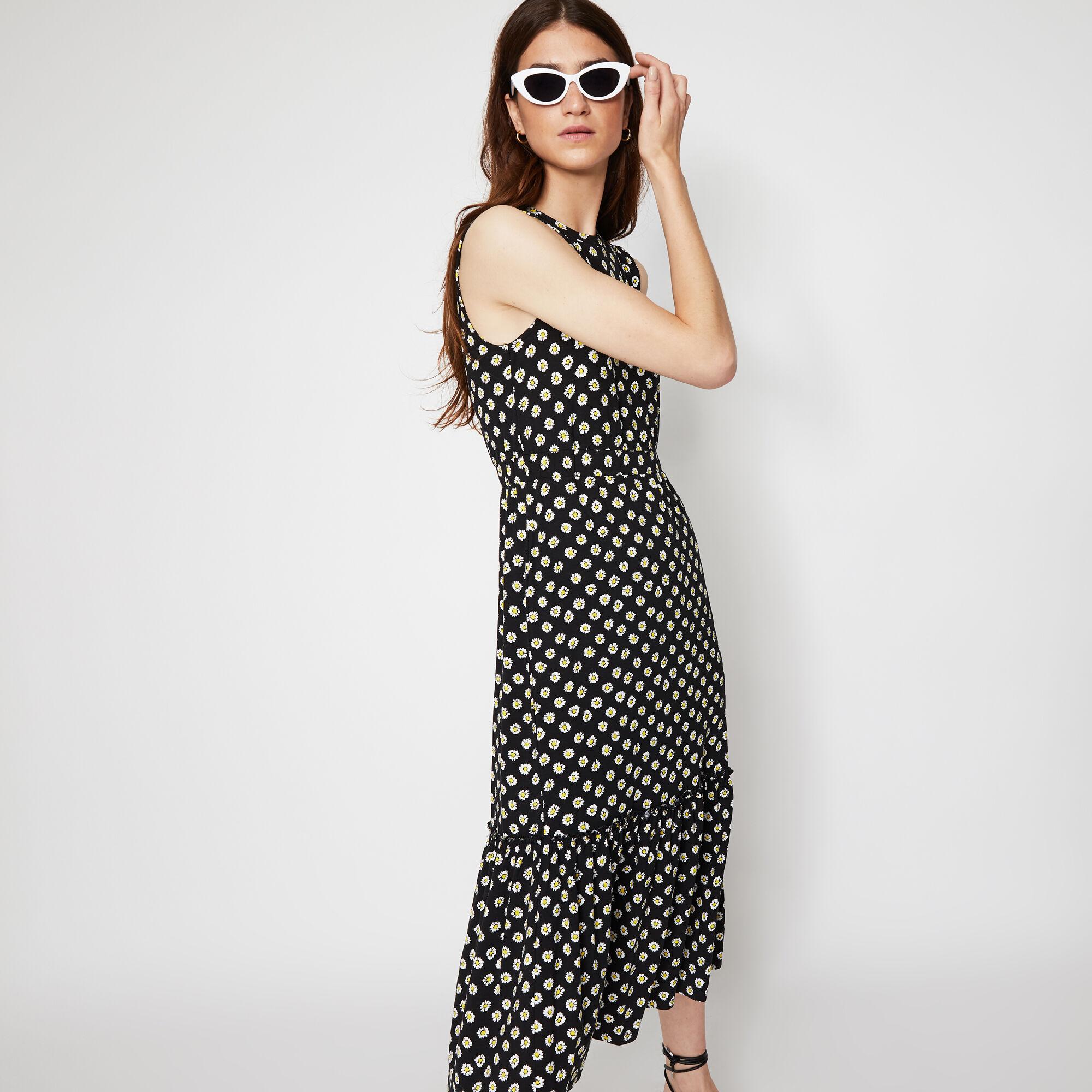 Warehouse, DAISY PRINT DRESS Black Pattern 1