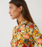 Warehouse, FLORAL FUNNEL NECK TOP Multi 4