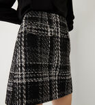 Warehouse, CHECK SPARKLE TWEED MINI SKIRT Black Pattern 4