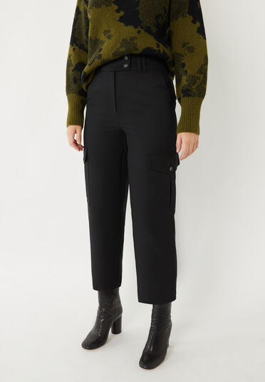 Warehouse, UTILITY TROUSER Black 2
