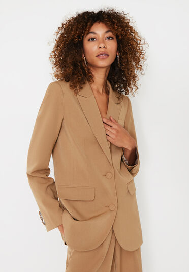 Warehouse, SINGLE BREASTED BLAZER Camel 1