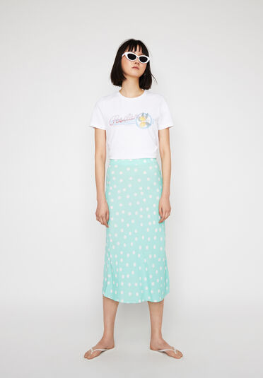 Warehouse, SPOT MIDI SLIP SKIRT Mint 1
