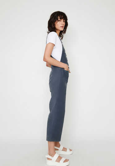 Warehouse, CORD CULOTTE DUNGAREES Light Blue 2