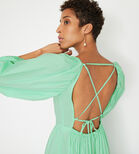 Warehouse, PUFF SLEEVE MAXI DRESS Light Green 4