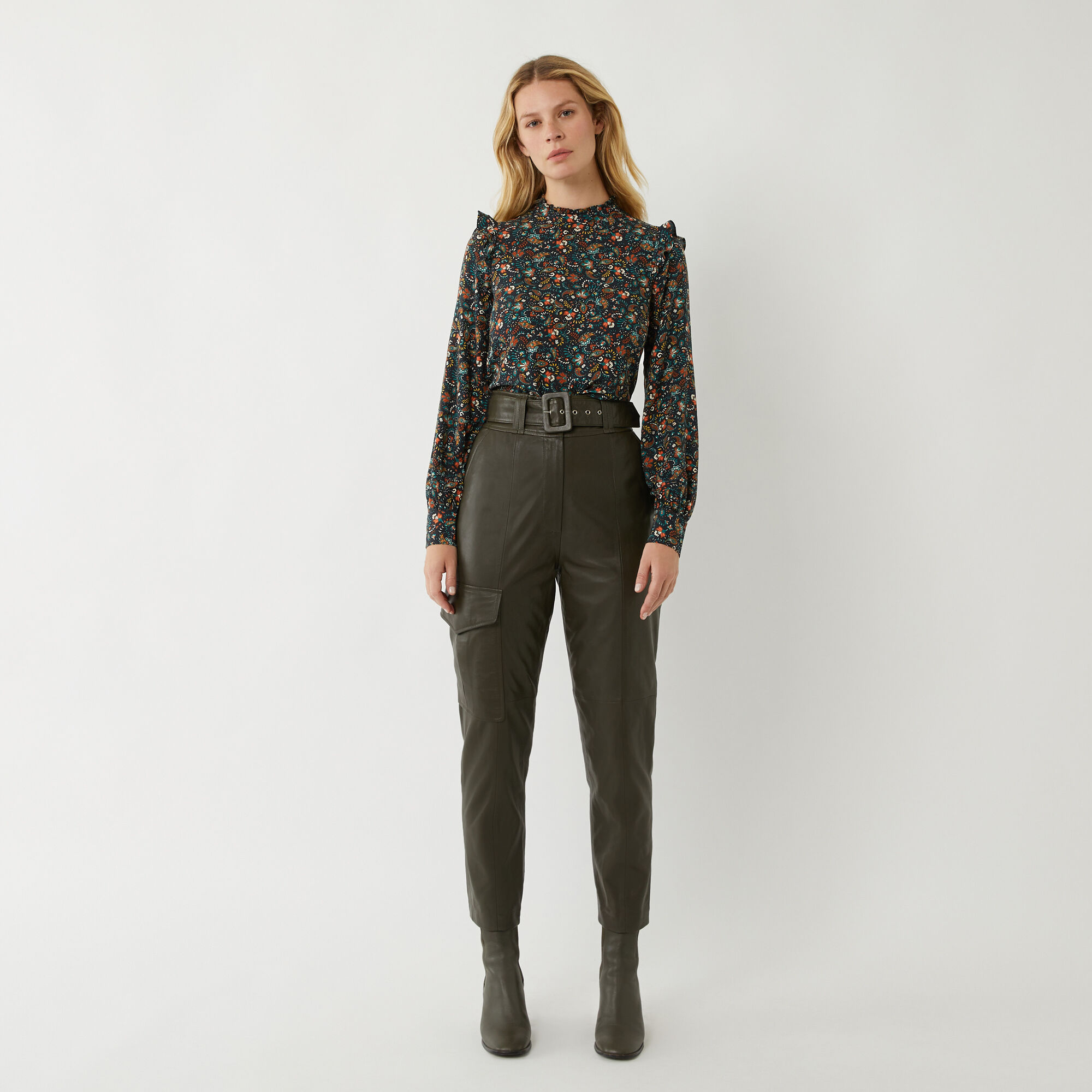 Warehouse, PAISLEY DITSY FLORAL TOP Multi 1