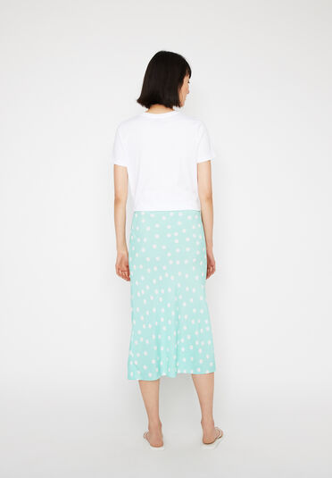 Warehouse, SPOT MIDI SLIP SKIRT Mint 2