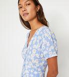 Warehouse, DAISY MINI TEA DRESS Blue Pattern 4