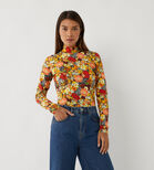 Warehouse, FLORAL FUNNEL NECK TOP Multi 1
