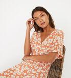 Warehouse, DAISY TIERED MAXI DRESS Orange 1