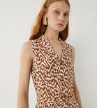 Warehouse, WOODGRAIN UTILITY SHIRT DRESS Tan 4