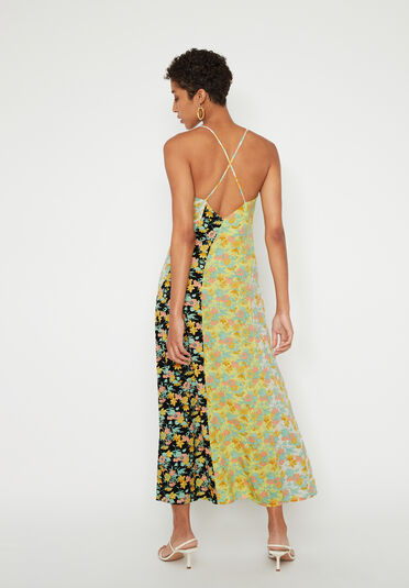 Warehouse, MIXED FLORAL MIDI CAMI DRESS Multi 2