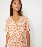 Warehouse, DAISY TIERED MAXI DRESS Orange 4