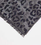 Warehouse, LEOPARD PRINT LIGHT SCARF Grey Pattern 2