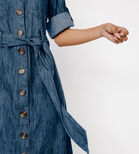 Warehouse, DENIM MAXI SHIRT DRESS Light Wash Denim 4