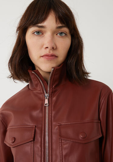 Warehouse, FAUX LEATHER BOILERSUIT RUST 2