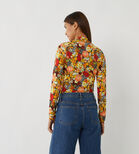 Warehouse, FLORAL FUNNEL NECK TOP Multi 3