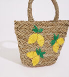 Warehouse, LEMONS STRAW BUCKET BAG Beige 4