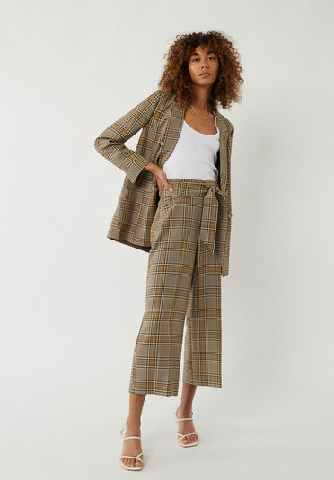 Warehouse, CHECK BLAZER JACKET Multi 1