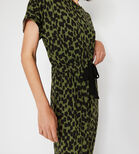 Warehouse, BRUSHED CHEETAH MAXI DRESS Khaki 4