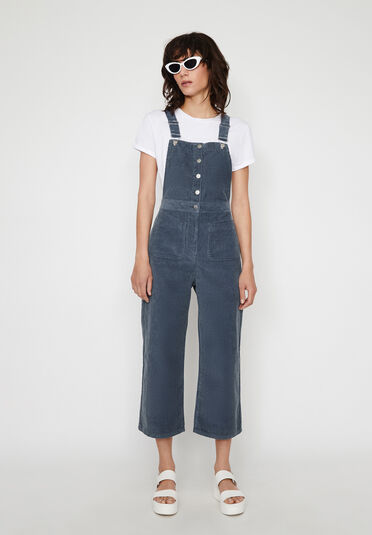 Warehouse, CORD CULOTTE DUNGAREES Light Blue 1